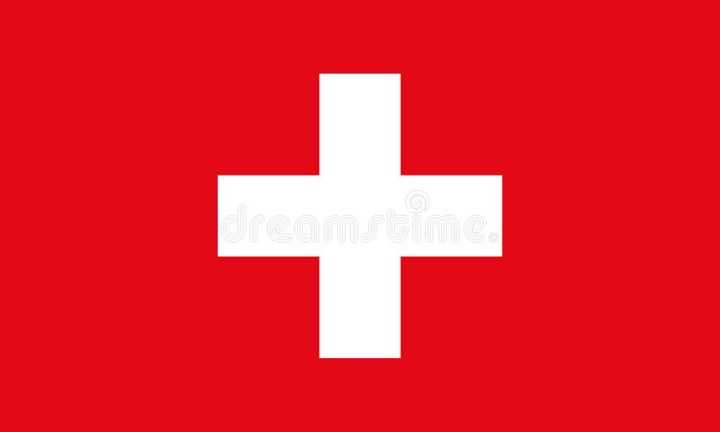 флаг Швейцария Предпосылка вектора флага Швейцарии стоковые фотографии rf