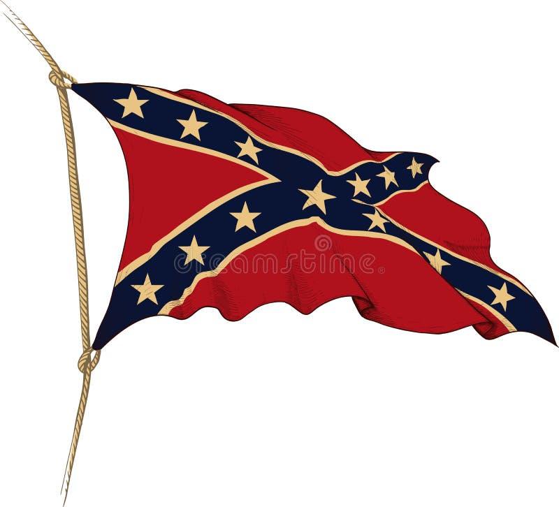 Флаг Confederate иллюстрация вектора