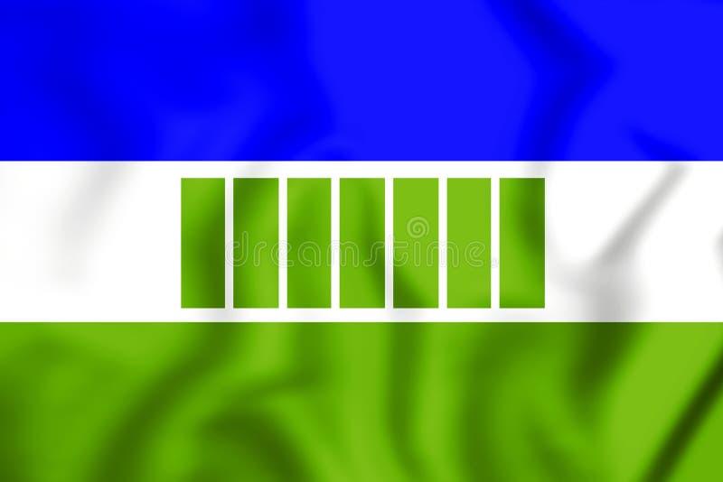 флаг 3D Ovamboland иллюстрация штока