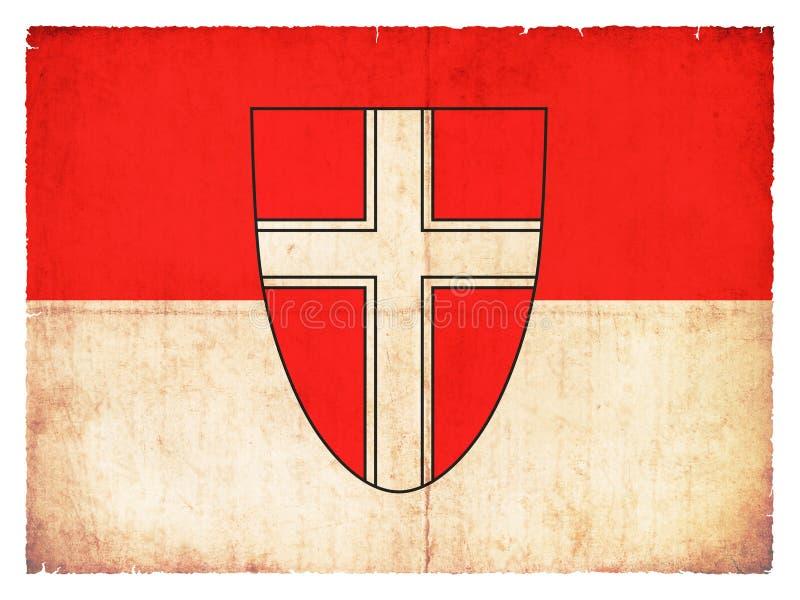 Флаг Grunge вены Австрии иллюстрация вектора