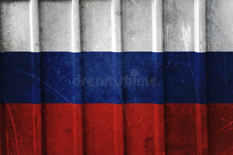 Флаг Grunge русский стоковая фотография rf
