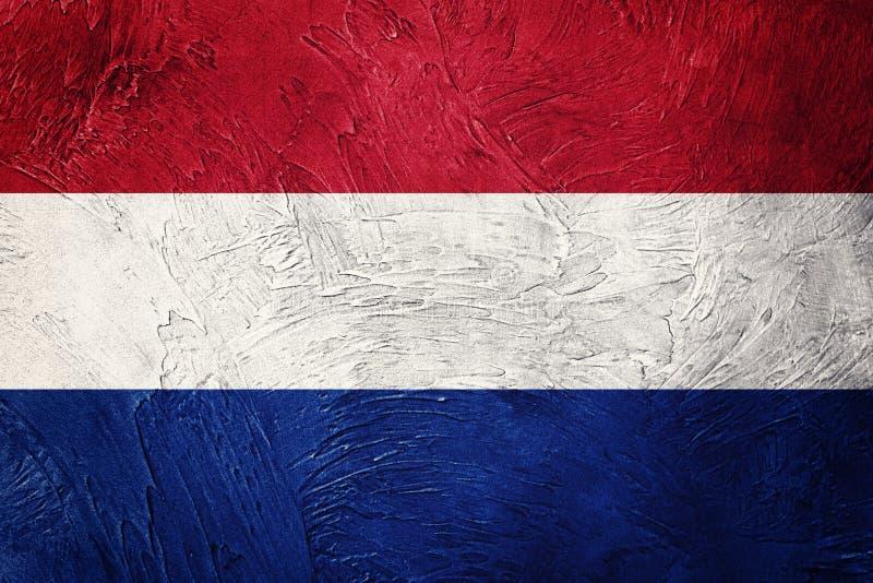 Флаг Nederland Grunge Флаг Nederlands с текстурой grunge стоковое фото rf