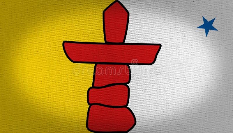 Флаг Nunavut иллюстрация вектора