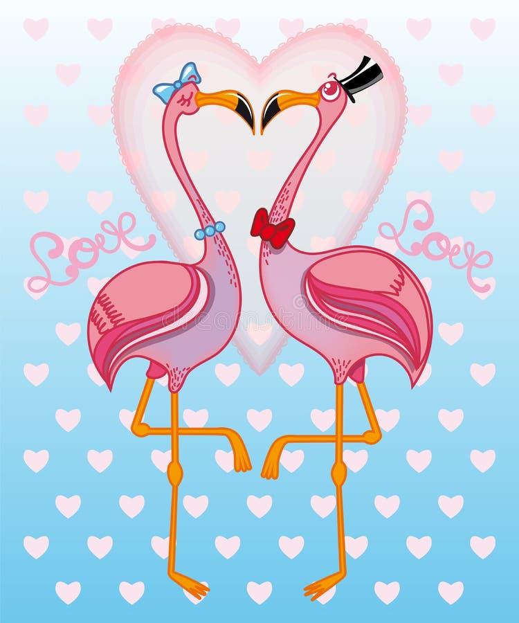 фламингоы pink 2 иллюстрация штока