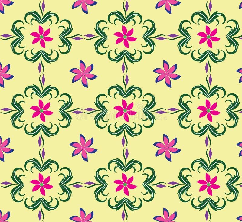 Флора цвета безшовной картины предпосылок мягкая стоковая фотография
