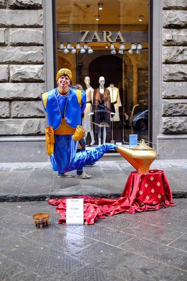 Флоренс, ИТАЛИЯ - 27-ое марта: Женский аниматор стоковые изображения rf