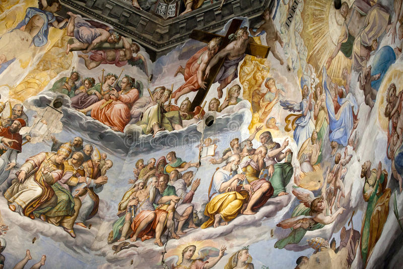 Флоренс - Duomo. Последнее суждение. стоковая фотография rf