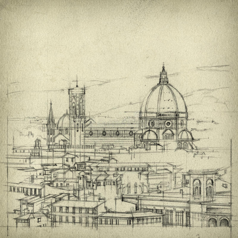 Флоренция иллюстрация штока