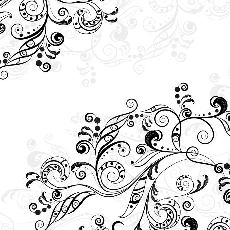 Флористическая абстрактная картина 5 иллюстрация вектора