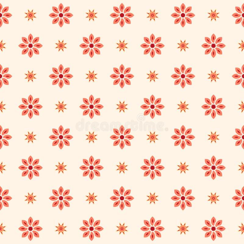 Флористическая безшовная картина с розовыми цветками, декоративный вектор wal иллюстрация штока
