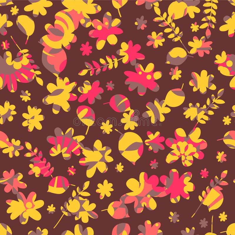 Download Флористическая безшовная картина Иллюстрация вектора - иллюстрации насчитывающей детский, цветасто: 33729738