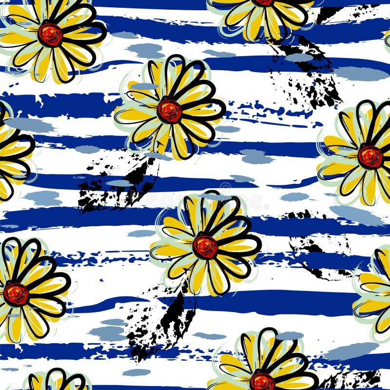 Флористическая безшовная предпосылка картины, бесплатная иллюстрация