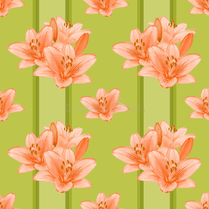 Флористическая безшовная предпосылка. иллюстрация штока