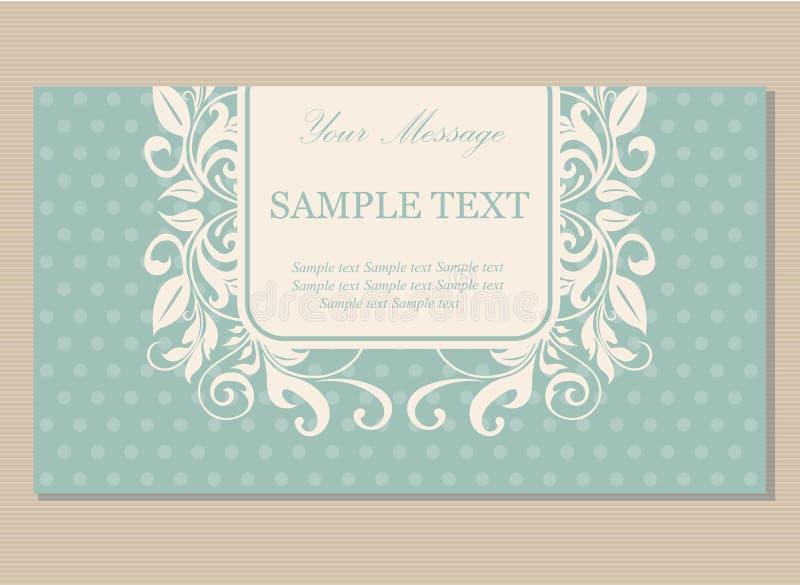 Флористическая винтажная визитная карточка бесплатная иллюстрация