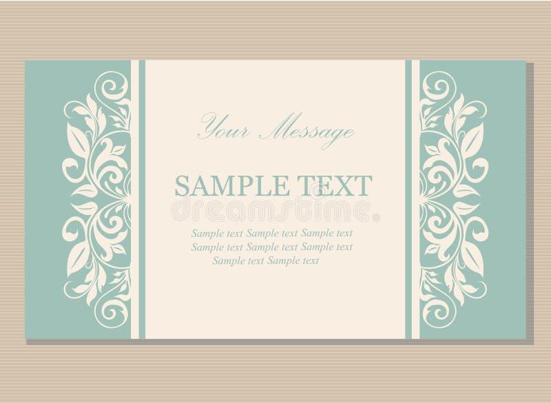 Флористическая винтажная визитная карточка иллюстрация вектора