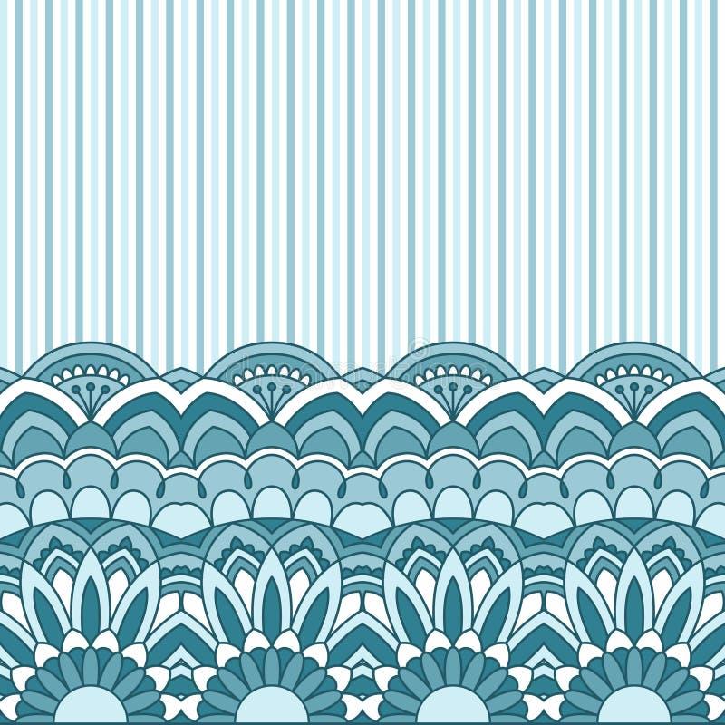Флористическая восточная картина иллюстрация вектора
