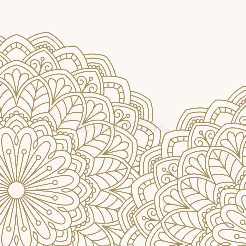 Флористическая восточная картина бесплатная иллюстрация