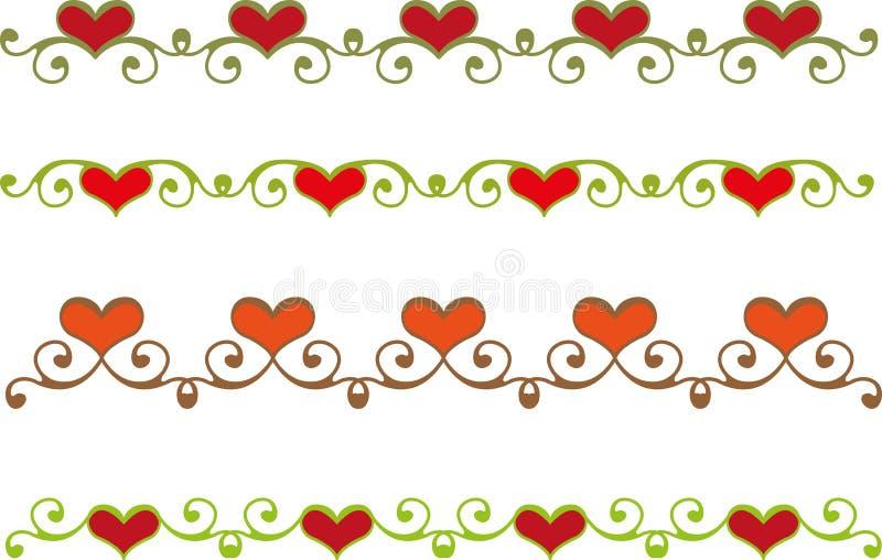 Флористическая граница сердца бесплатная иллюстрация