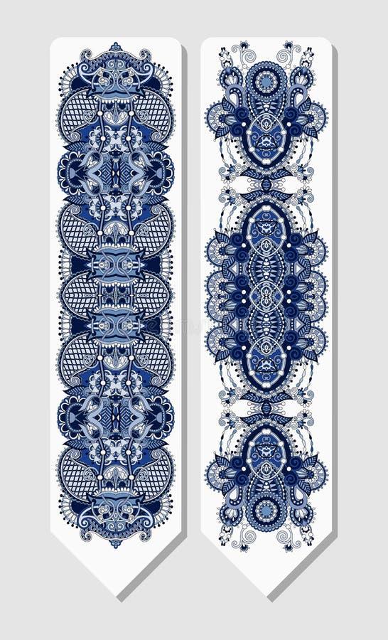 Флористическая декоративная этническая закладка Пейсли для иллюстрация штока