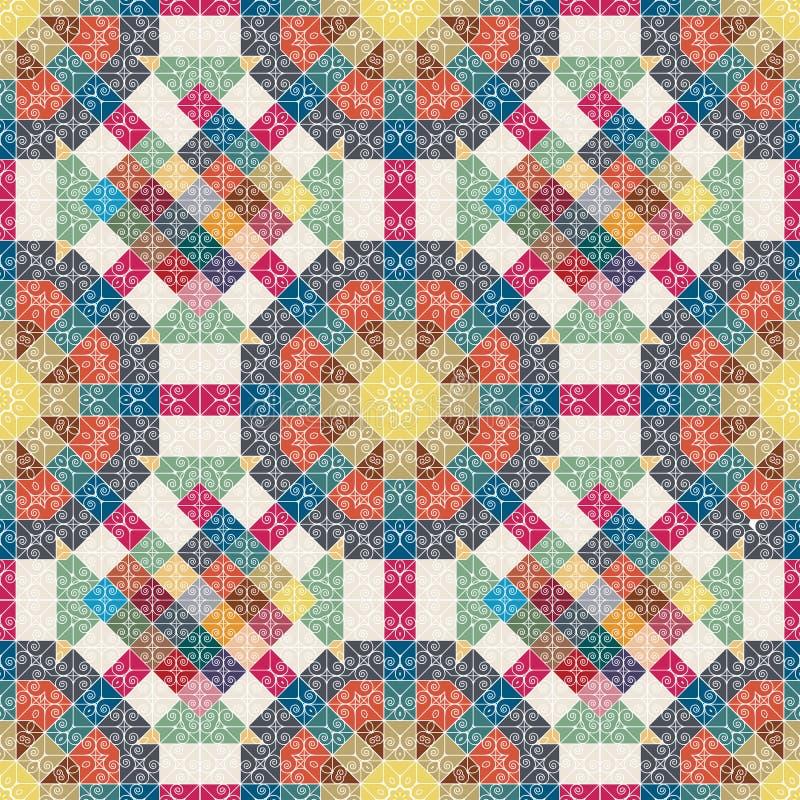 флористическая картина безшовная Текстура заплатки мозаика стоковое фото