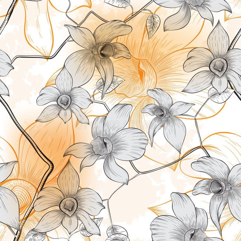 Download флористическая картина безшовная Иллюстрация вектора - иллюстрации насчитывающей тканье, лето: 41660647