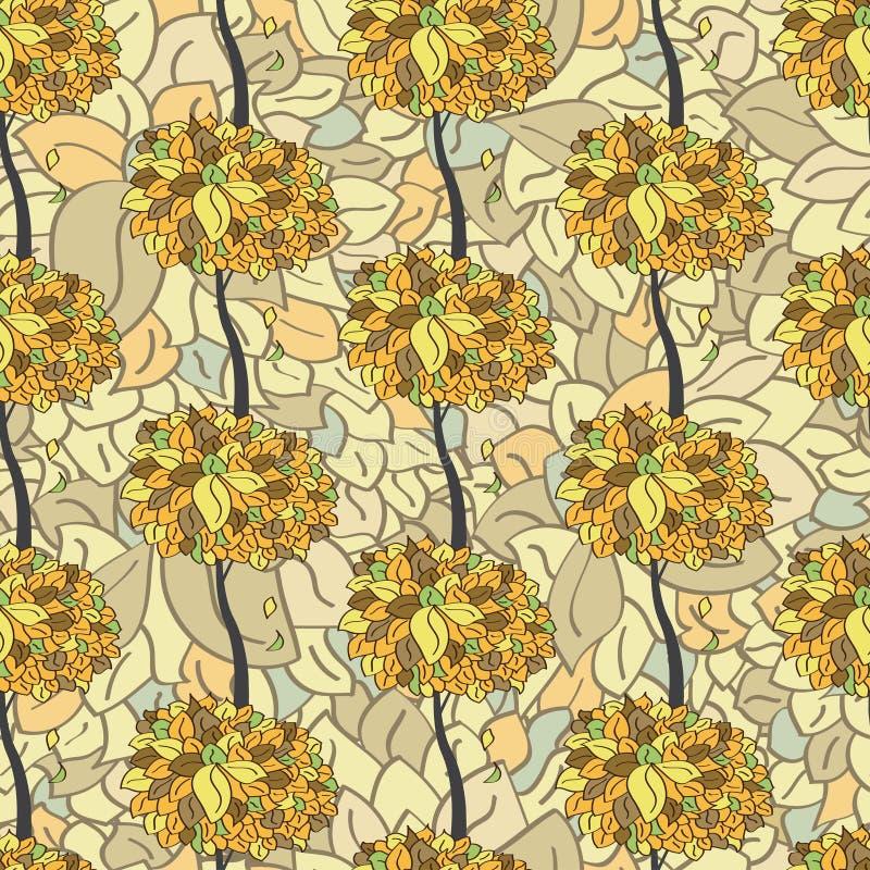 Download флористическая картина безшовная Иллюстрация вектора - иллюстрации насчитывающей художничества, безшовно: 41661287