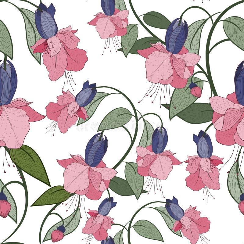 Download флористическая картина безшовная Иллюстрация вектора - иллюстрации насчитывающей лето, обои: 41661403