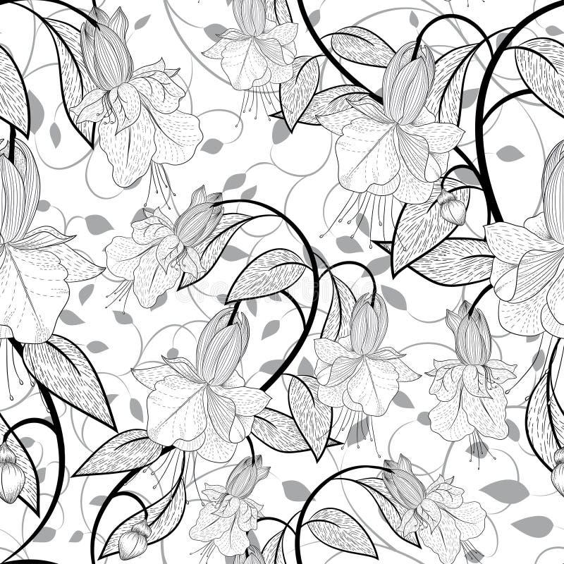 Download флористическая картина безшовная Иллюстрация вектора - иллюстрации насчитывающей украшение, ретро: 41662218