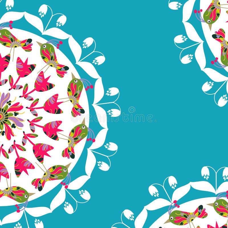 Download Флористическая карточка с космосом для текста, Иллюстрация вектора - иллюстрации насчитывающей церемония, цветок: 40590081