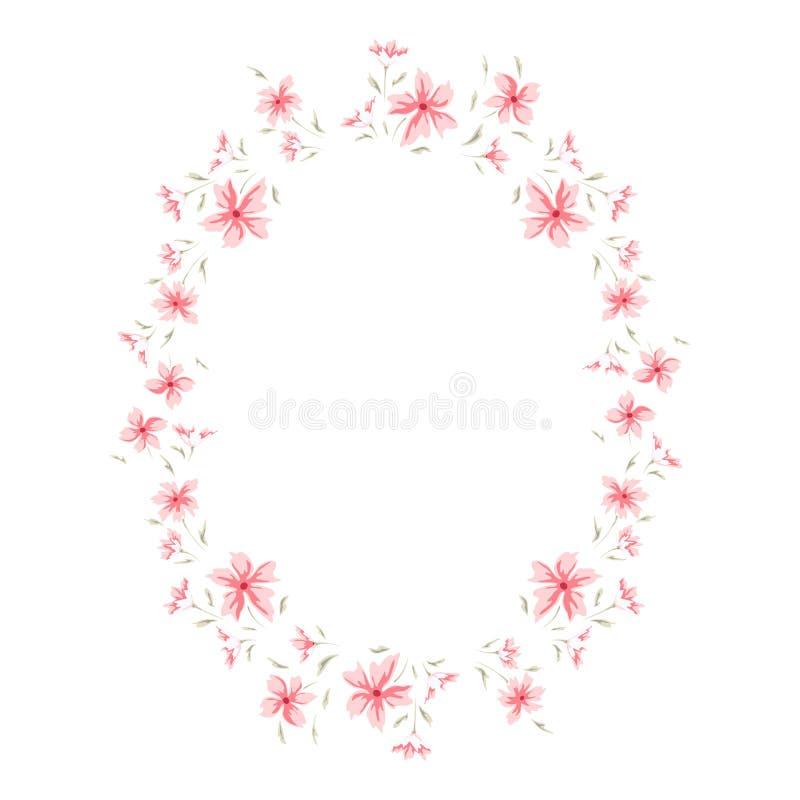 Флористическая милая рамка иллюстрация вектора