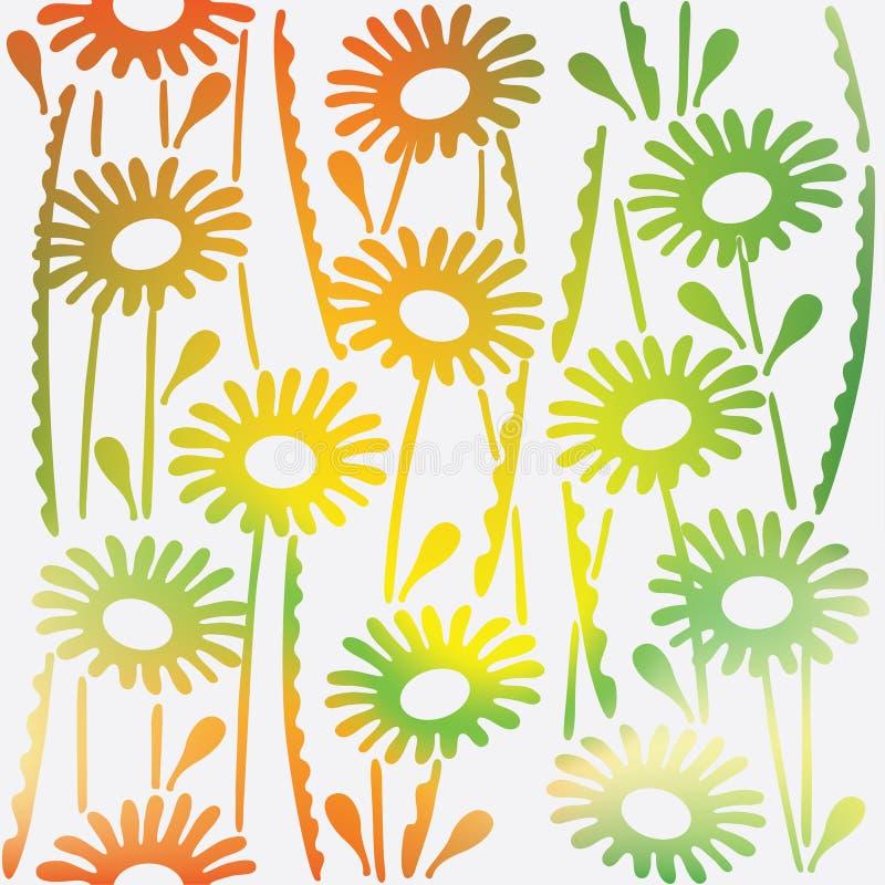 Флористическая орнаментальная текстура с весной цветков картина безшовная иллюстрация штока