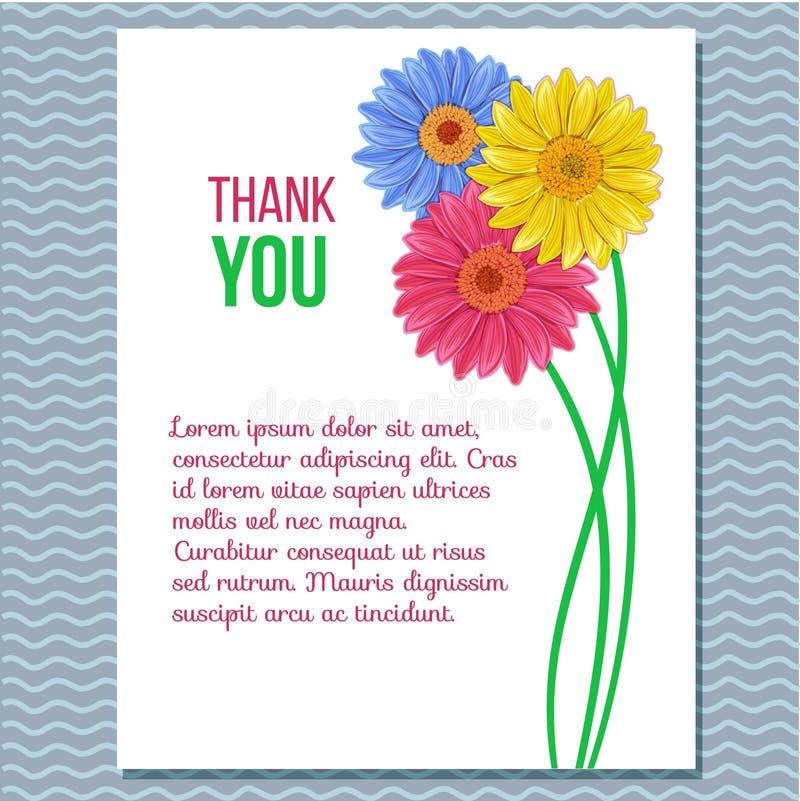 Флористическая поздравительная открытка приглашения иллюстрация вектора