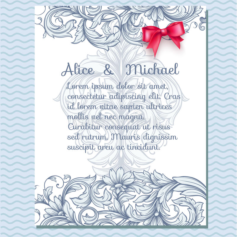 Флористическая поздравительная открытка приглашения бесплатная иллюстрация