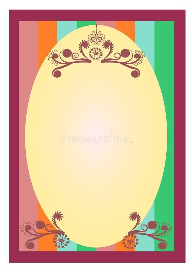 Флористическая предпосылка границы украшений свирли иллюстрация штока