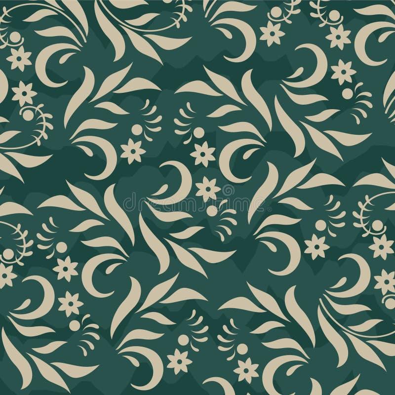 Download Флористическая предпосылка на зеленом цвете Иллюстрация вектора - иллюстрации насчитывающей green, цветок: 37925067