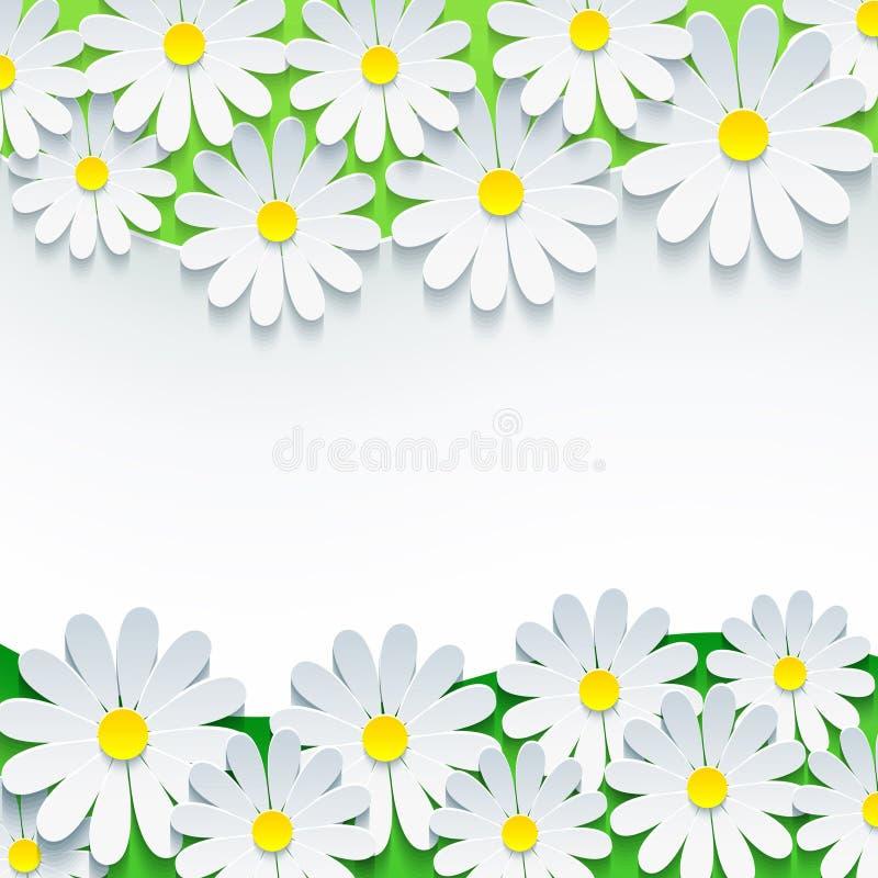 Флористическая предпосылка, рамка с стоцветом цветка 3d бесплатная иллюстрация
