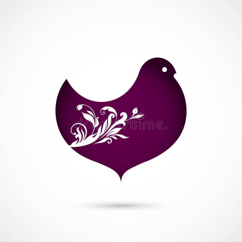 Флористическая птица иллюстрация вектора