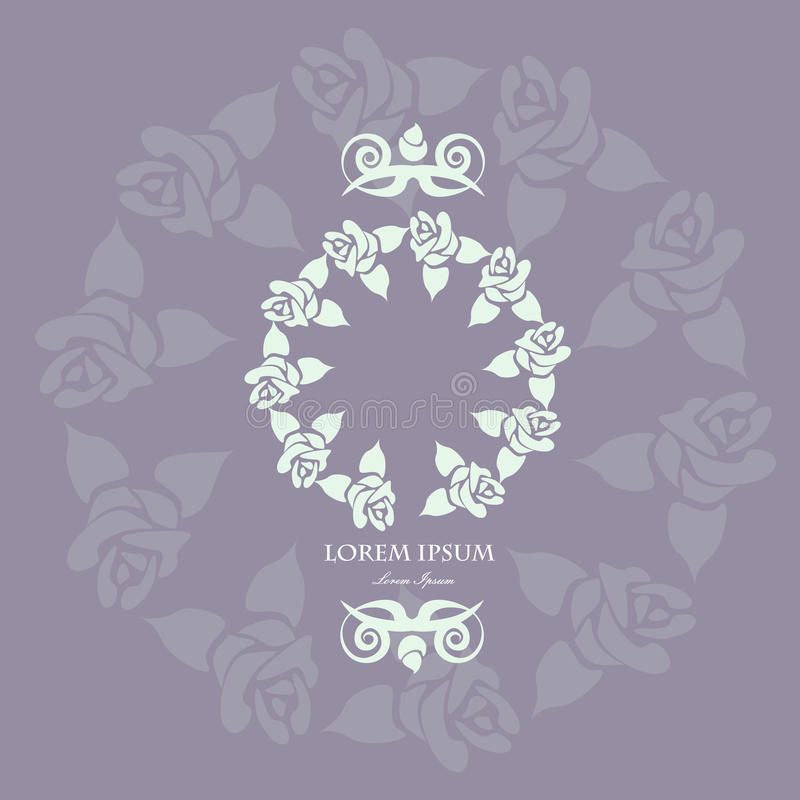 Флористическая рамка сделанная внутри бесплатная иллюстрация