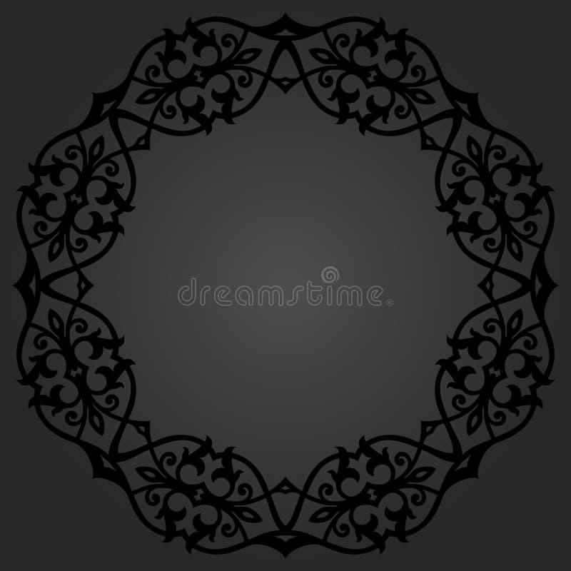 Download Флористическая современная круглая рамка Иллюстрация штока - иллюстрации насчитывающей backhoe, декоративно: 81812702