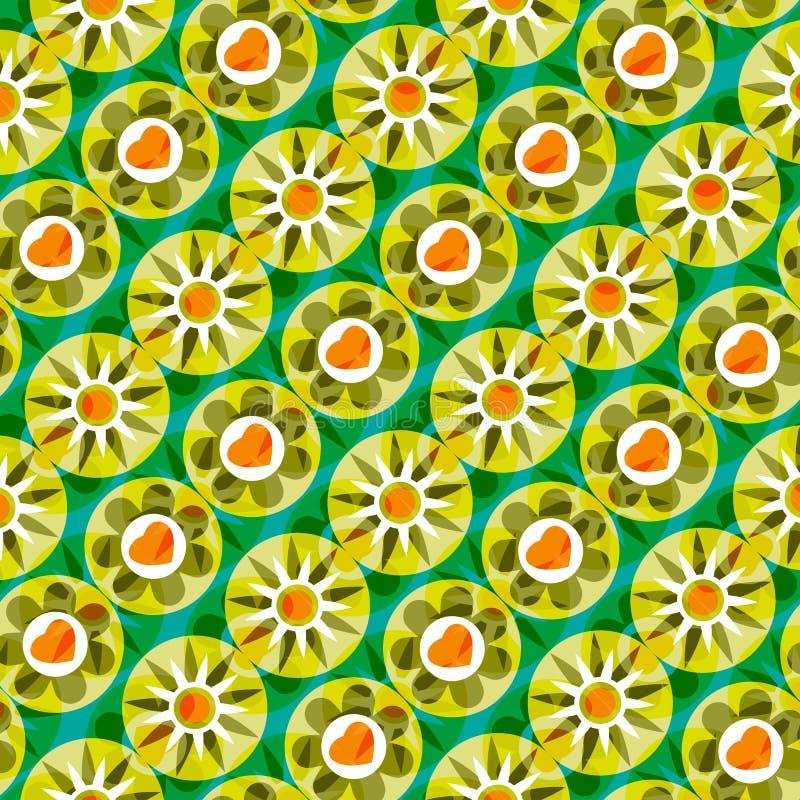 Флористическая яркая абстрактная предпосылка иллюстрация штока