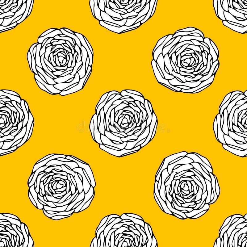 флористические безшовные обои иллюстрация штока