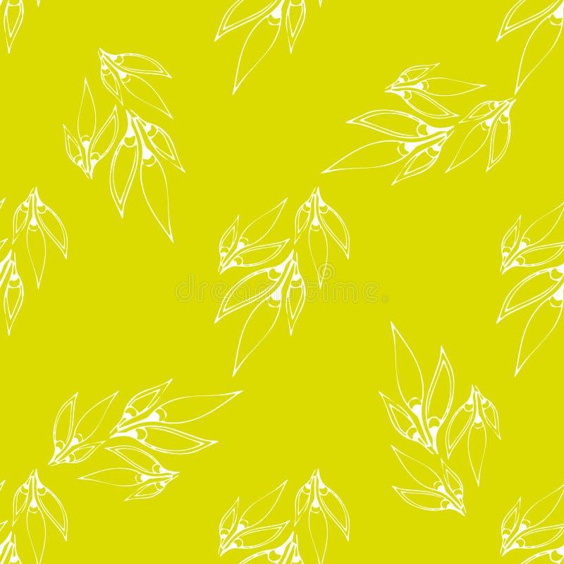 флористические безшовные обои иллюстрация вектора