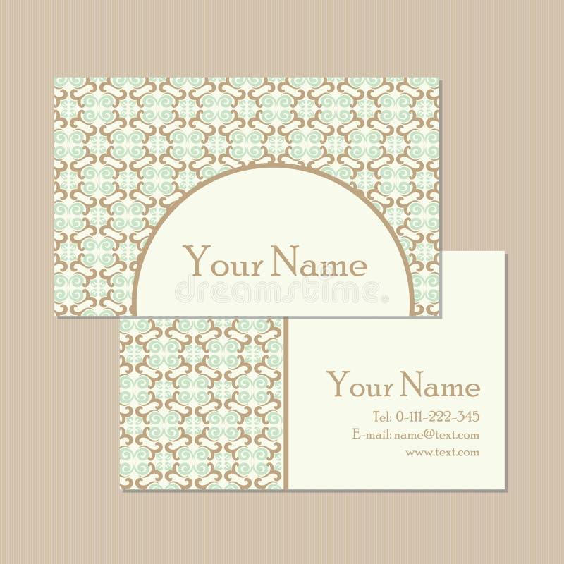 Флористические винтажные карточки дела или приглашения иллюстрация вектора
