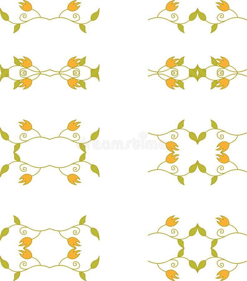 Флористические элементы ветви иллюстрация вектора