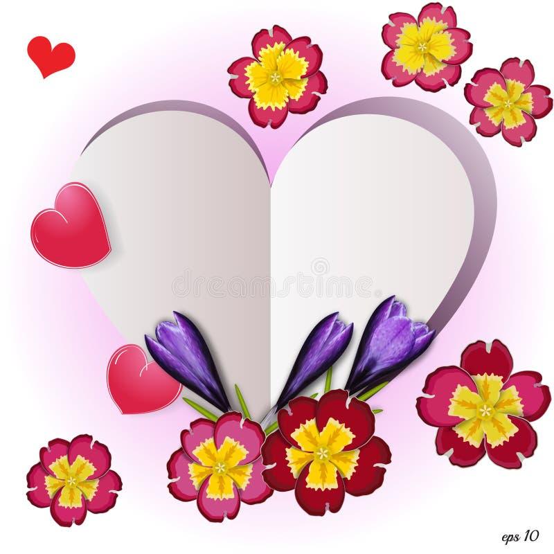 Флористические элементы Дня матери сердца вектор бесплатная иллюстрация