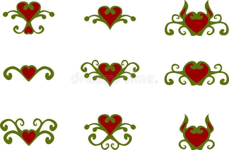 Флористические элементы сердца бесплатная иллюстрация