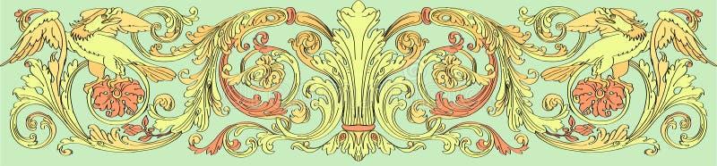 Флористический барочный стиль иллюстрация вектора