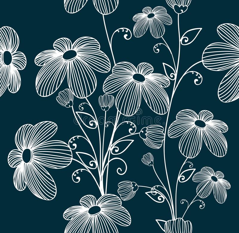 Флористический безшовной предпосылки картины иллюстрация вектора