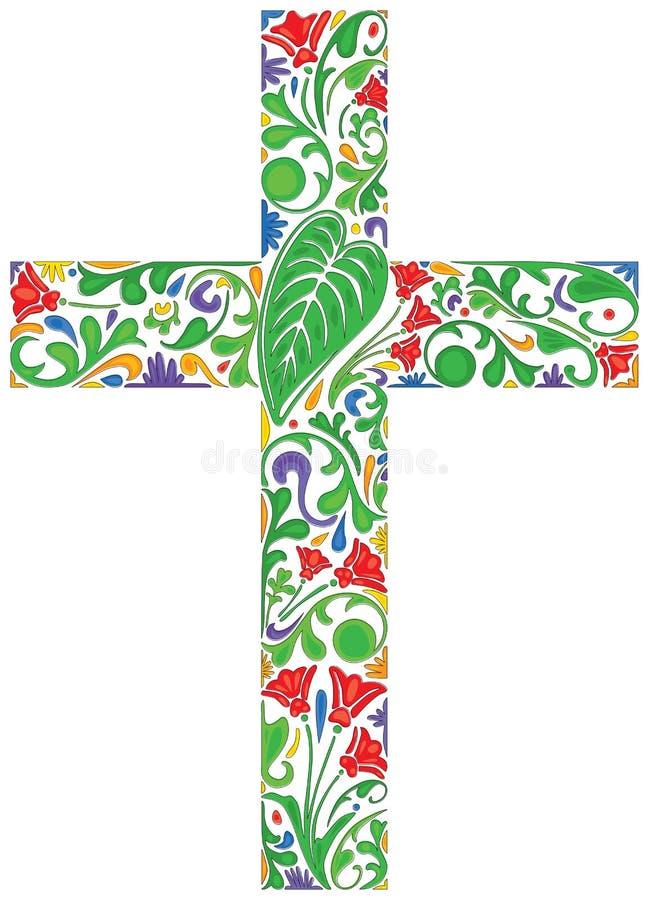 Флористический крест бесплатная иллюстрация