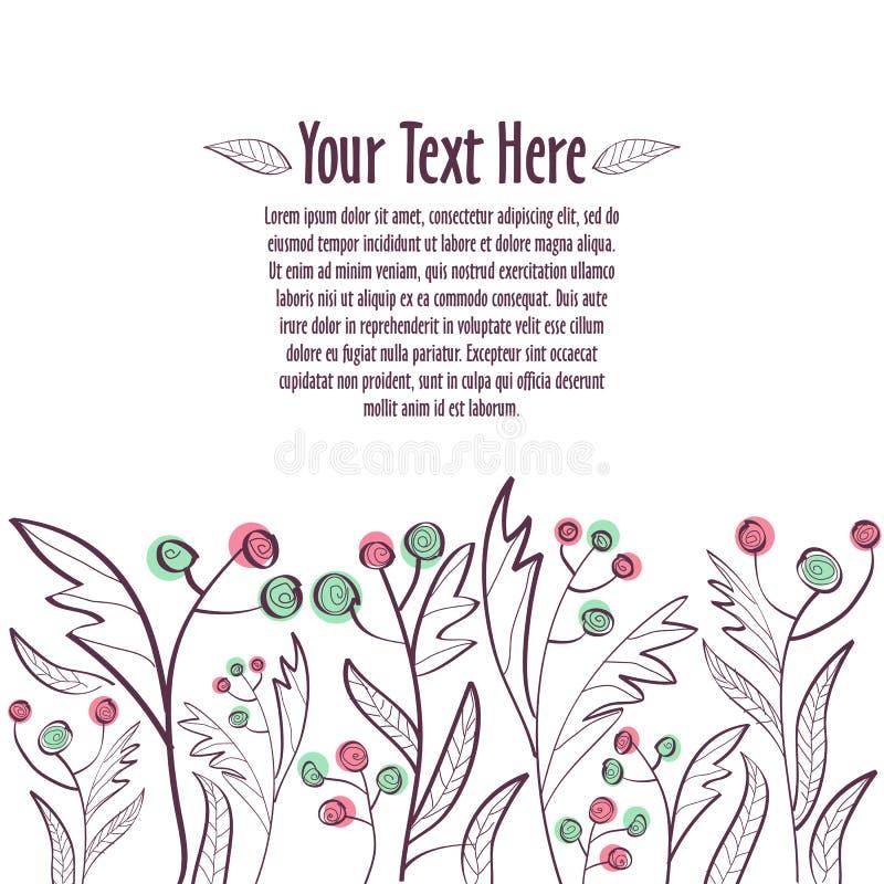 флористический орнамент Шаблон для приглашения или открытки стоковые фотографии rf